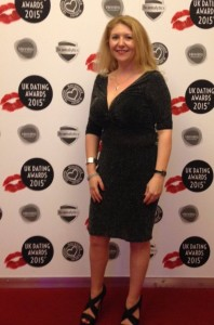 Helen Rice BeLoveCurious Founder on the red carpet at the UK Dating Awards 2015