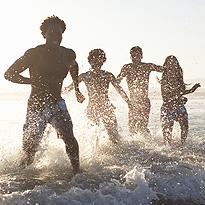 BeLoveCurious - splashing in surf