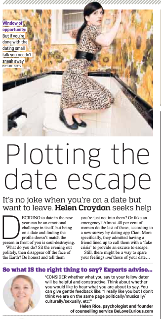 Belovecurious - metro - escape a dodgy date